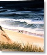 Fishermen's Wait Metal Print by Karol Wyckoff