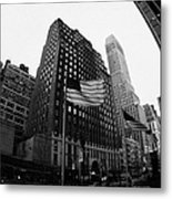 Fisheye View Of 34th Street From 1 Penn Plaza New York City Metal Print