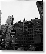 Fisheye View Of 34th Street From 1 Penn Plaza New York City Usa Metal Print by Joe Fox