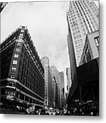 Fisheye View Of The Herald Square Building And Cross Walks Over Broadway New York Metal Print