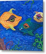 Fishin' For Smiles Metal Print