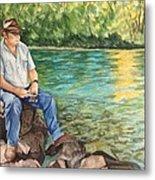 Fishing At Aviemore Metal Print