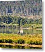 Fishing At George Town Lake Metal Print