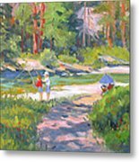 Fishing At Kennedy Meadows Metal Print