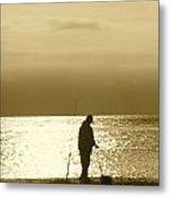 Fishing At Twilight Metal Print