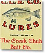 Fishing Bait Advertising Sign Metal Print