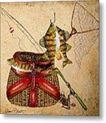 Fishing Basket  Metal Print