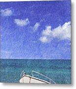 Fishing Boat Algarve Portugal Metal Print