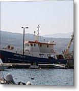 Fishing Boat Apostolos - Samos Metal Print