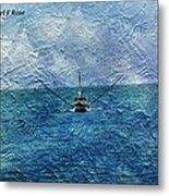 Fishing Boat As A Painting 2 Metal Print