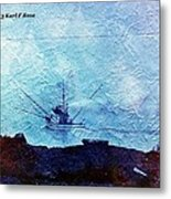 Fishing Boat As A Painting Metal Print