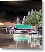 Fishing Boat Dock - Ketchican - Alaska - Photopower 02 Metal Print