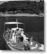 Fishing Boat In Asos Village Metal Print