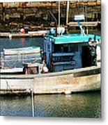 Fishing Boat In Rockport Metal Print