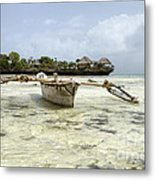 Fishing Boat In Zanzibar Metal Print