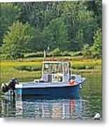 Fishing Boat Cape Neddick Maine Metal Print