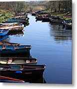 Fishing Boat Row Metal Print