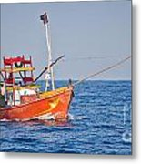 Fishing Boat  Sri Lanka Metal Print