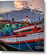 Fishing Boat V2 Metal Print