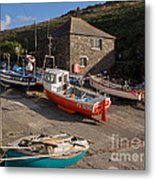 Fishing Boats At Mullion Cove Metal Print