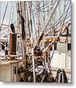 Fishing Boats Equipment Chaos Metal Print