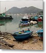 Fishing Boats - Hong Kong Metal Print