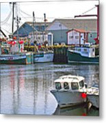 Fishing Boats In Branch-nl Metal Print