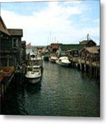Fishing Boats In Fishtown Metal Print