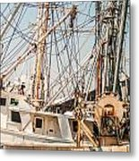 Fishing Boats In Harbour Metal Print