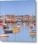 Fishing Boats In The Howth Marina Metal Print