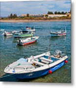 Fishing Boats Metal Print by Luis Alvarenga