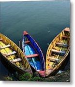 Fishing Boats - Nepal Metal Print