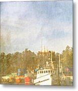 Fishing Boats Newport Oregon Metal Print by Carol Leigh
