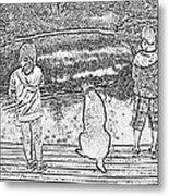 Fishing Buddies Metal Print