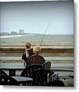 Fishing Buddies Metal Print by Kathy Barney
