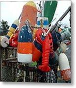 Fishing Buoys Metal Print