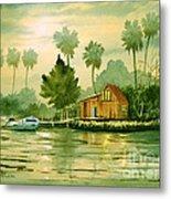 Fishing Cabin - Aucilla River Metal Print