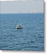 Fishing Can Be Lonely Metal Print