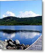 Fishing Day - Calm Waters - Digital Painting Metal Print