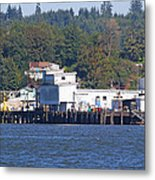 Fishing Docks On Puget Sound Metal Print