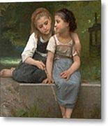 Fishing For Frogs Metal Print by William Bouguereau