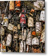 Fishing Gear Cape Neddick Maine Metal Print by Thomas Schoeller