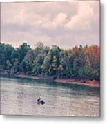 Fishing In Autumn Metal Print by Jai Johnson