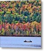 Fishing In The Fall Colors On Lake Chocorua Metal Print