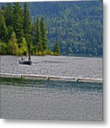 Fishing Lake Merwin Metal Print