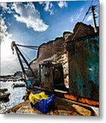 Fishing Machinery Metal Print