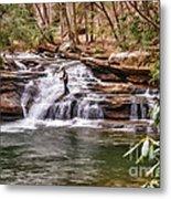 Fishing Mill Creek Falls In West Virginia Metal Print