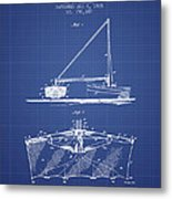Fishing Net Patent From 1905- Blueprint Metal Print