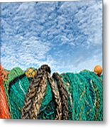 Fishing Nets And Alto-cumulus Clouds Metal Print