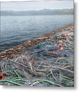 Fishing Nets To Dry Metal Print